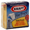 Kraft Cheese American Fat Free Singles 16ct