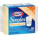 Kraft Cheese American White Singles 24ct