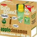 Materne GoGo Squeeze Apple Cinnamon Applesauce on the Go 4pk