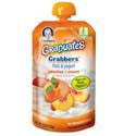 Gerber Graduates Grabbers Squeezables Fruit & Yogurt-Peaches and Cream