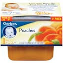Gerber 1st Foods Peaches 2 pack