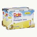 Dole 100% Juice Pineapple 6pk