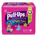 Huggies Nightime Pull-Ups 3T-4T Girls 42pk