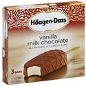 Haagan Dazs Ice Cream Bars Vanilla & Milk Chocolate 3ct