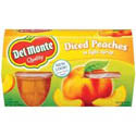 Del Monte Diced Peaches Fruit Cups