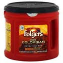 Folgers 100% Columbia Medium Dark Coffee For All Makers 27.8oz can