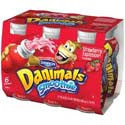Danimals Strawberry Explosion Smoothie 6ct