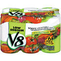 V8 100% Vegetable Juice Low Sodium 6pk