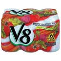 V8 100% Vegetable Juice 6pk 5.5ozcans
