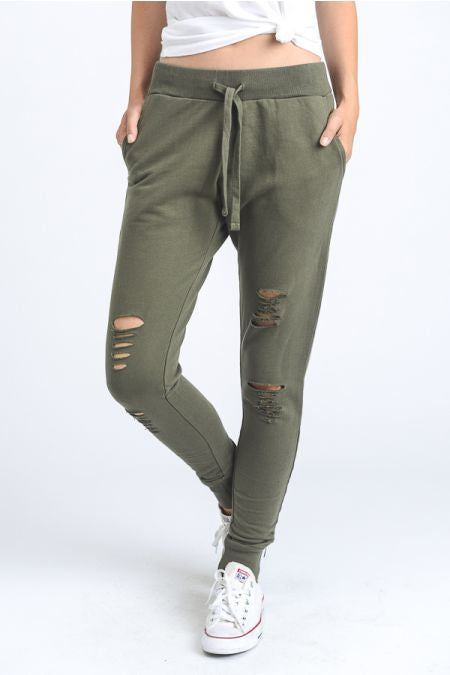 Warrior Joggers - Olive