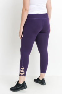 JP Signature Criss-Cross Leggings - Eggplant
