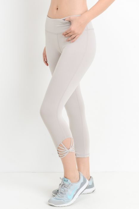JP Signature Fan Capri Leggings - Mocha