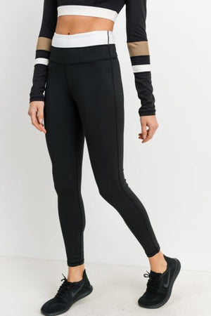 JP High Waist Color Block Leggings
