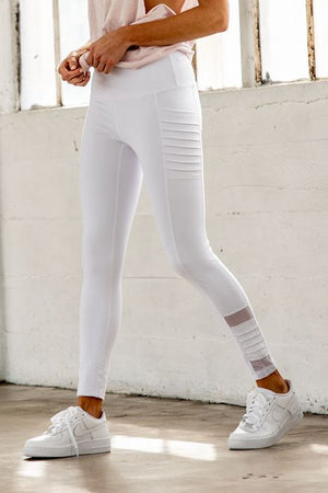 High-Waist White Leggings