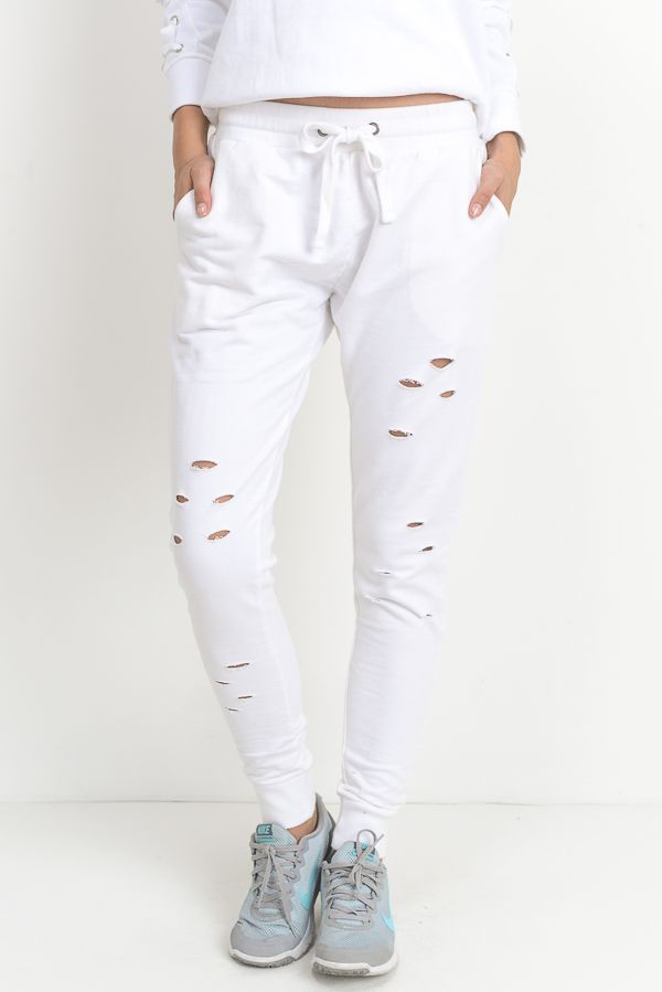 Warrior Joggers - White