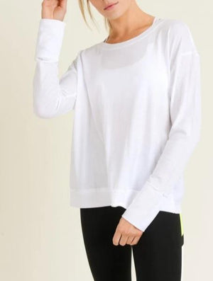Athleisure Twist Top - White