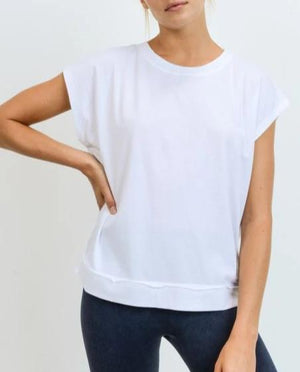 Fashion Athleisure Top - White