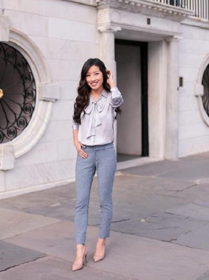 Spring Office Style SLOAN ANKLE PANTS TWO WAYS
