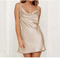 Ladies Champagne Colour Mini Dress