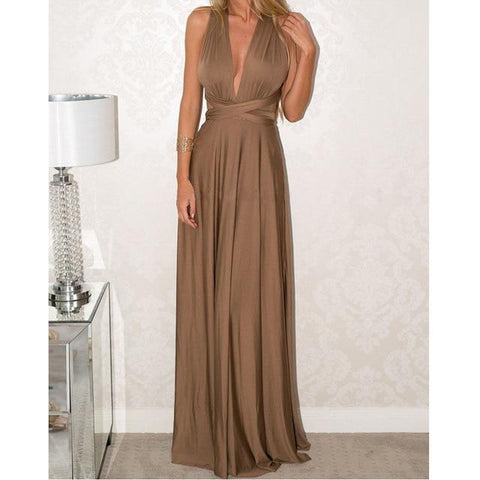 Long Multi Way Wrap Party Dress