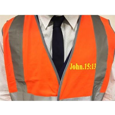 Hi - Vis Jacket for Evangelism - Jn 15:13