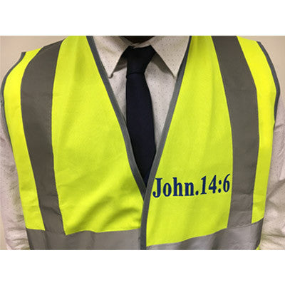 Hi - Vis Jacket for Evangelism - Jn 14:6