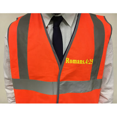 Hi - Vis Jacket for Evangelism - Romans 4:25