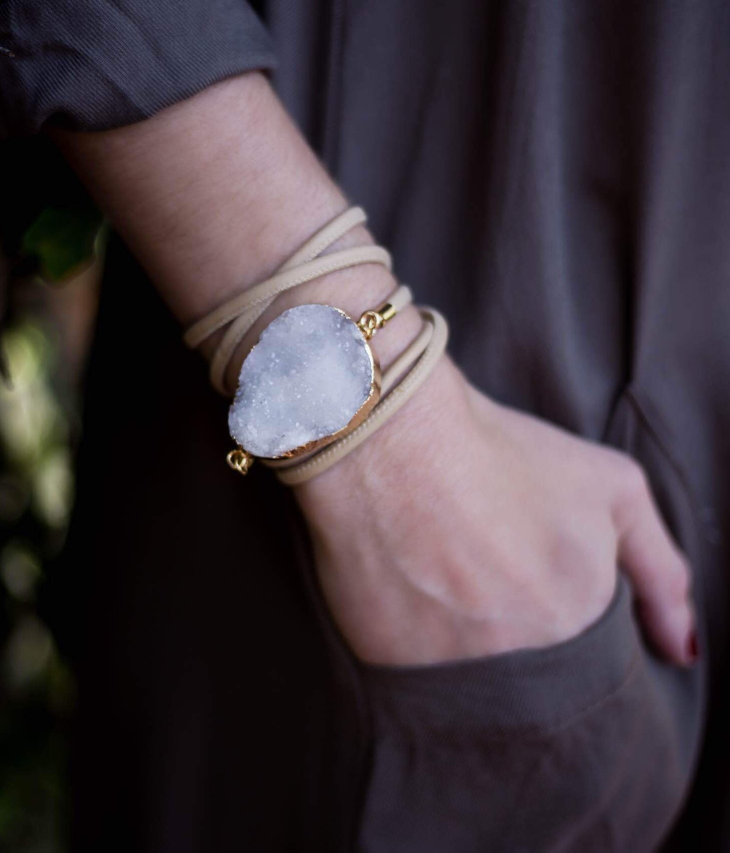 Wrap Around Druzy Bracelet