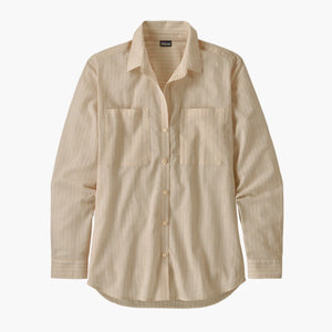 Women's Lightweight A/C Buttondown Shirt - Simple Dimple: Pumice