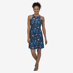 Magnolia Spring Dress - Fiber Flora Multi Big: Joya Blue