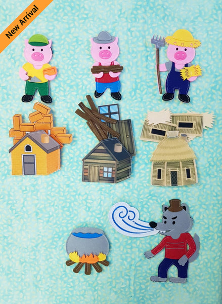 Felt Story - 3 Little Pigs