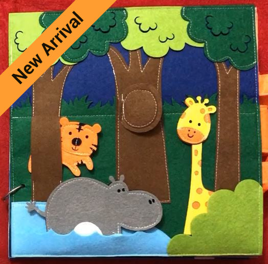 Quiet Book - Animals with Personalised Name