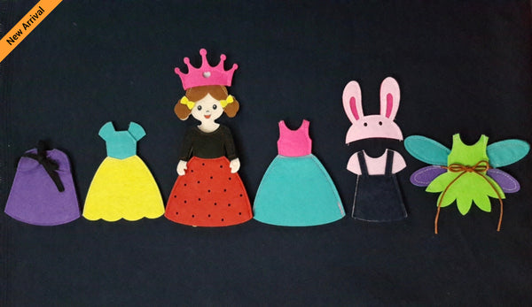 Felt Doll Set - Princess Fairy Doll Set - JustRead.com.au