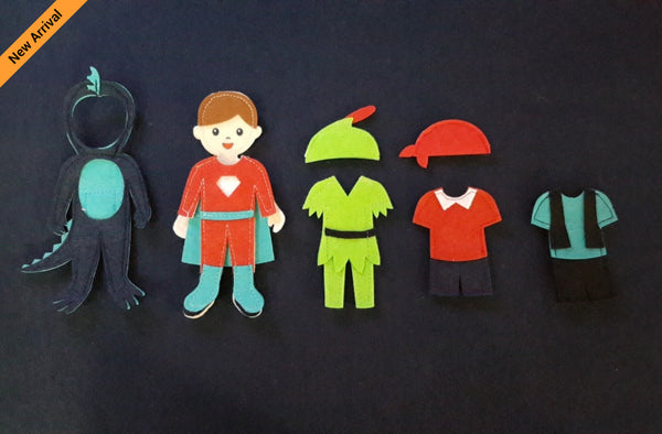 Felt Doll Set - Super Hero Doll Set - JustRead.com.au