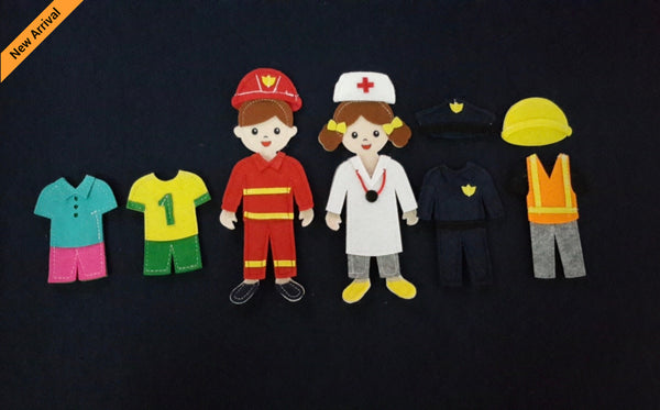 Felt Doll Set - Uniform Doll Set - JustRead.com.au
