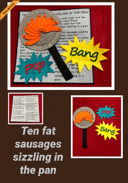 Felt Nursery Rhymes - 10 Fat Sausages - JustRead.com.au