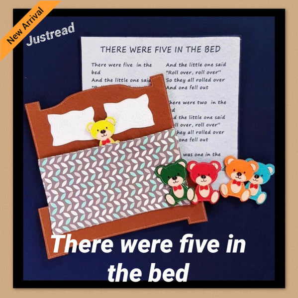 Felt Nursery Rhymes - 5 In The Bed - JustRead.com.au