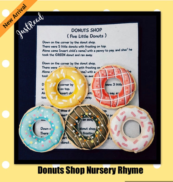 Felt Nursery Rhymes - Donuts Shop - JustRead.com.au