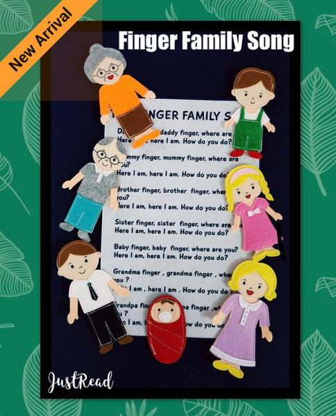 Felt Nursery Rhymes - Finger Family v2 - JustRead.com.au