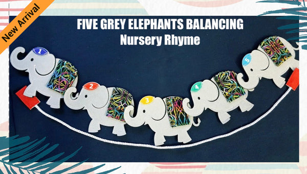Felt Nursery Rhymes - Five Grey Elephants - JustRead.com.au