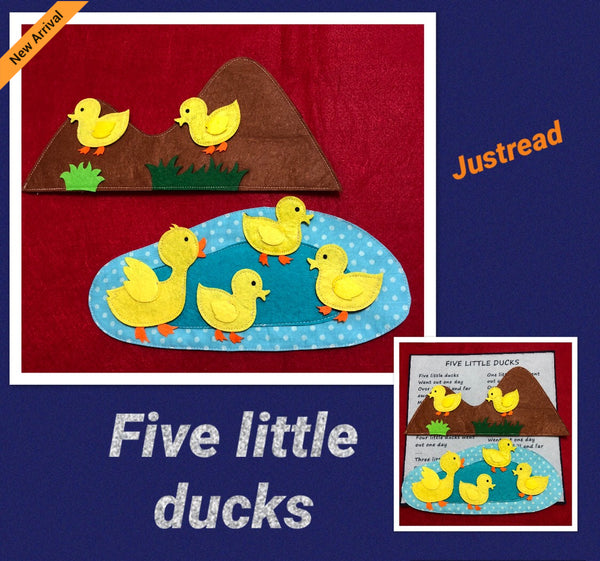 Felt Nursery Rhymes - Five Little Ducks - JustRead.com.au