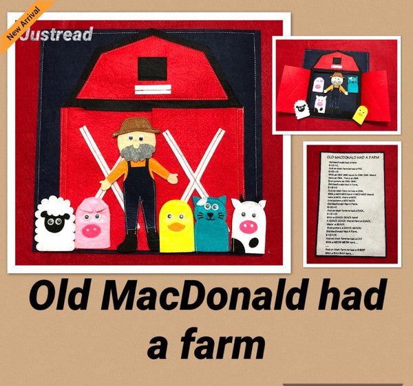 Felt Nursery Rhymes - Old MacDonald - JustRead.com.au
