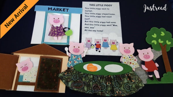 Felt Nursery Rhymes - This Little Piggy - JustRead.com.au