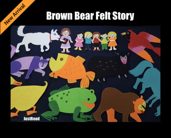 Felt Story - Brown Bear - JustRead.com.au
