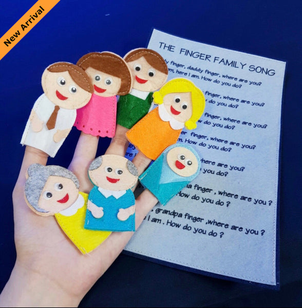 Felt Nursery Rhymes - Finger Family - JustRead.com.au