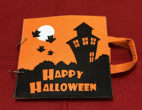 Quiet Book - Happy Halloween Orange