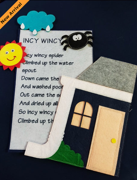 Felt Nursery Rhymes - Incy Wincy Spider - JustRead.com.au