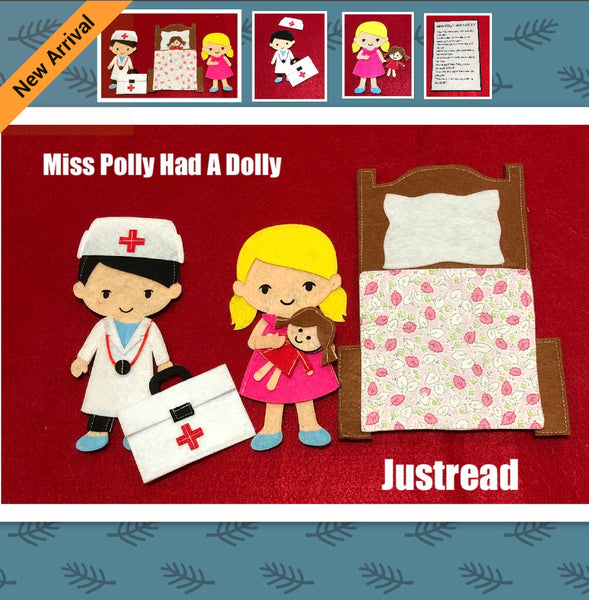 Felt Nursery Rhymes - Miss Polly Had a Dolly - JustRead.com.au