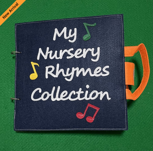 Quiet Book - Nursery Rhymes Collection (Blue)