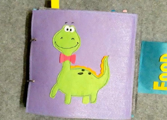 Quiet Book Mini - Dinosaur